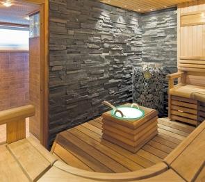 Tyylikkäässä saunassa viihtyy