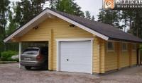Autotalli ja katos Hirsi Piharakennukset