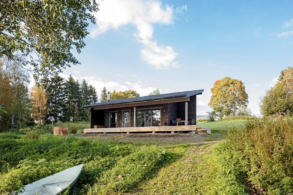 hirsinen moderni sauna